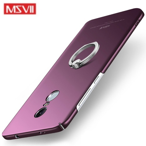 MSVII Ματ Backcover Θήκη (Xiaomi Redmi Note 4X) (Snapdragon) (Purple-Ring)