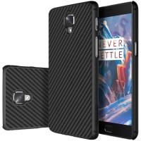 Nillkin Synthetic Fiber Back Cover Μαύρη Θήκη (OnePlus 3/3T)