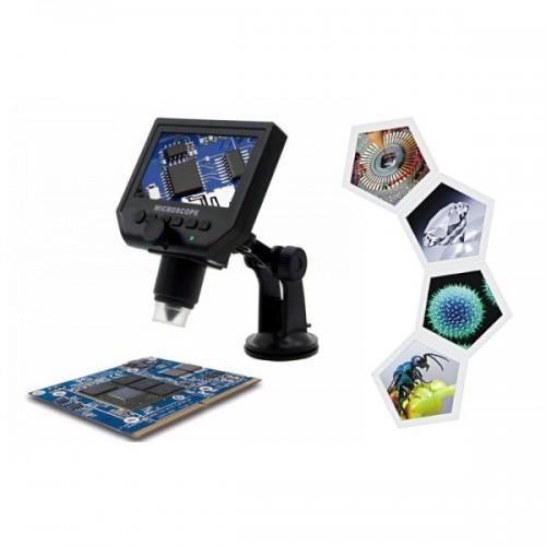 "OEM G600 Ψηφιακό Επαναφορτιζόμενο Μικροσκόπιο 600x (LCD 4.3""/ Κάμερα 3.6MP)"