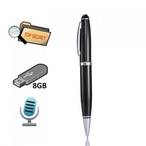 Safest CM-004 Κρυφό Καταγραφικό Ήχου Στυλό Spy Recorder (8GB)`