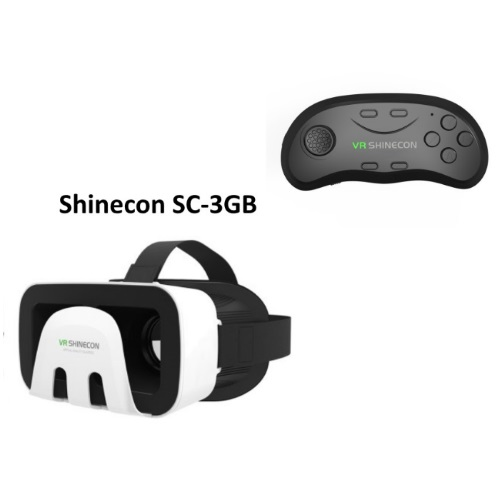 SHINECON VR Headset V3.0 SC-3GB & Bluetooth SC-B01
