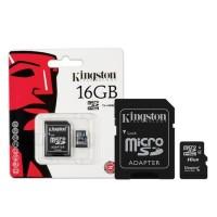 Micro SD Class 4 Kingston 16GB + Adapter SDC4/16GB