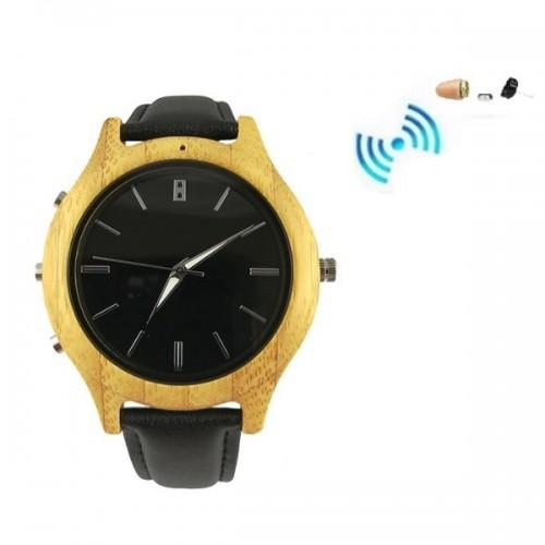 Spy Bluetooth Ρολόι Χειρός Watch Με Spy Ακουστικό Ψείρα