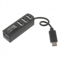 USB 3.1 Type-C to 4-Port USB 2.0 Hub Αντάπτορας Καλώδιο (P-3101) - Μαύρο