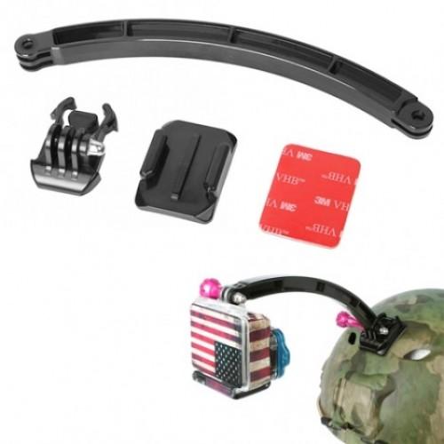 OEM Βάση Κράνους Ποδηλάτου ή Μηχανής με Βραχίονα για Action Camera(GoPro/Xiaomi/SJCAM/ Elecam/Sony)