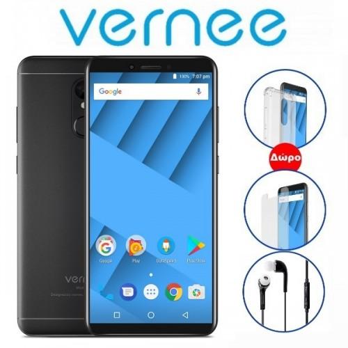 "Vernee Μ6 (5.7""/4G/8πύρηνο/4GB-64GB/3300mAh) Μαύρο (+ Δώρο Ακουστικά-Θήκη)"