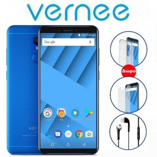 "Vernee Μ6 (5.7""/4G/8πύρηνο/4GB-64GB/3300mAh) Μπλε (+ Δώρο Ακουστικά-Θήκη)"