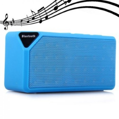 X3 Mini Ηχείο Bluetooth,Handsfree,FM Radio,TF/USB(OEM)(Γαλάζιο)