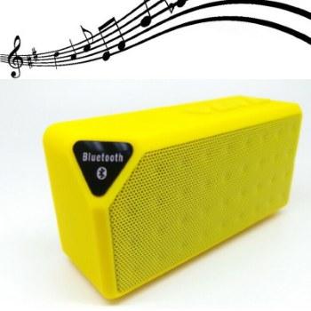 X3 Mini Ηχείο Bluetooth,Handsfree,FM Radio,TF/USB(OEM)(Κίτρινο)