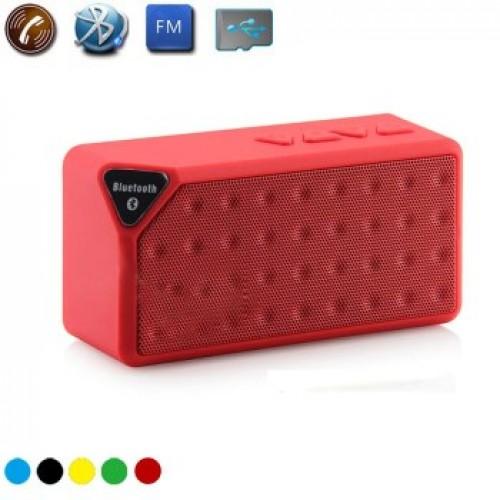 X3 Mini Ηχείο Bluetooth,Handsfree,FM Radio,TF/USB(OEM)(Κόκκινο)