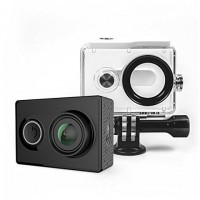 Yi EU Edition Ambarella A7LS Action Camera 368195 (Μαύρη) & Waterproof Case Bundle