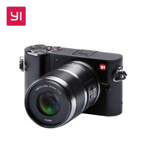 Yi M1 Mirrorless Digital Camera Prime Lens  (42.5mm F1.8-22) (Storm Black)