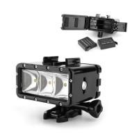 ΟΕΜ Υποβρύχιο Αδιάβροχο LED Φλας/Προβολέας με Διπλή Μπαταρία(GoPro/Gitup/ Xiaomi/Elecam/SJ)