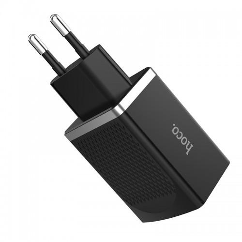 Hoco C42A Φορτιστής Τοίχου Quickcharge 3.0  USB 18W (Μαύρο)