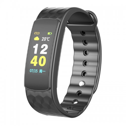 IWOWNFIT i6 HR Color Smart Fitness Band Μαύρο