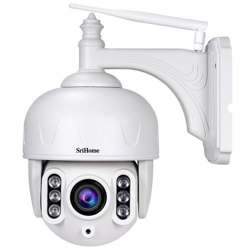 Srihome SH028 Κάμερα Ασφαλείας IP Εξωτερικού Χώρου 1080P 5X Zoom