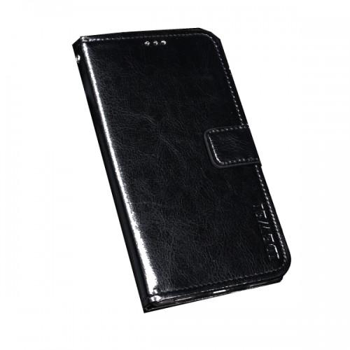 Δερμάτινη Θήκη Πορτοφόλι με Βάση Στήριξης για Xiaomi Mi 9 Lite - Μαύρο