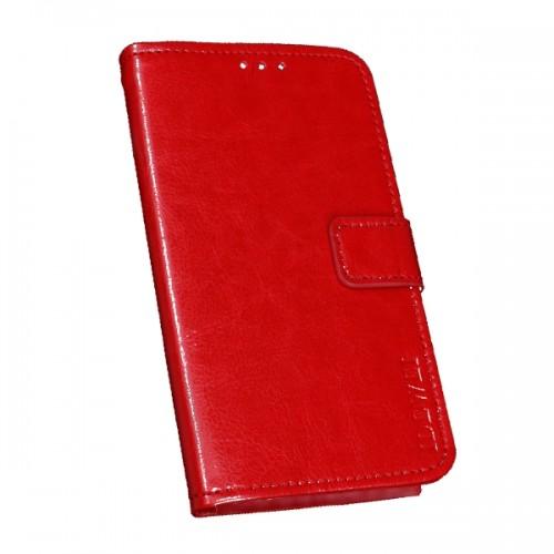 Δερμάτινη Θήκη Πορτοφόλι με Βάση Στήριξης για Xiaomi Mi 9 Lite - Κόκκινο