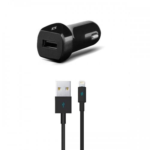 TTEC Ταχυφορτιστής Αυτοκινήτου για iPhone (Lightning) 2CKS01LS - Μαύρο