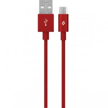 TTEC AlumiCable™ Καλώδιο Φόρτισης&Συγχρονισμού (musb) 120cm Κόκκινο