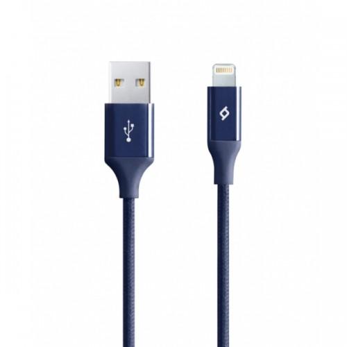 TTEC AlumiCable™ Καλώδιο Φόρτισης&Συγχρονισμού (lightning) 120cm Navy
