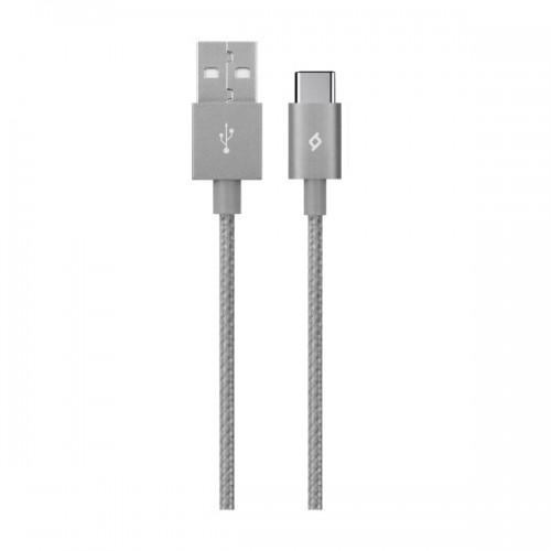 TTEC AlumiCable™ Καλώδιο Φόρτισης&Συγχρονισμού (type-c) 120cm Space Grey