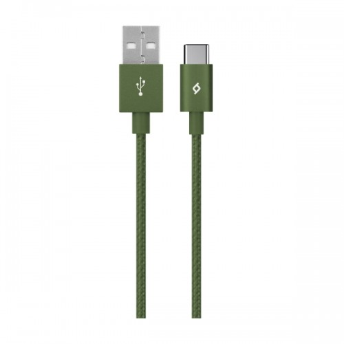 TTEC AlumiCable™ Καλώδιο Φόρτισης & Συγχρονισμού (type-c) 120cm Khaki