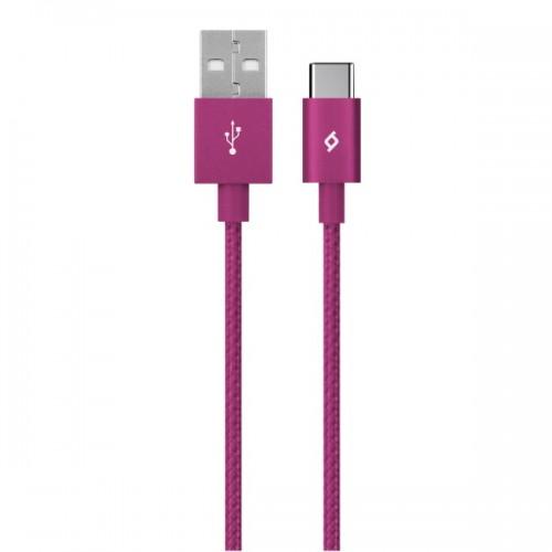 TTEC AlumiCable™ Καλώδιο Φόρτισης&Συγχρονισμού (type-c) 120cm Pink