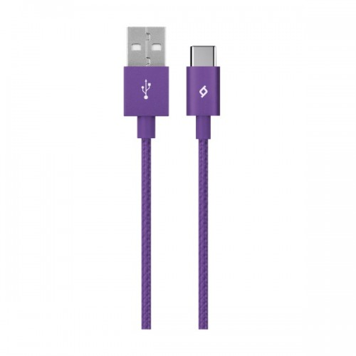 TTEC AlumiCable™ Καλώδιο Φόρτισης&Συγχρονισμού (type-c) 120cm Purple