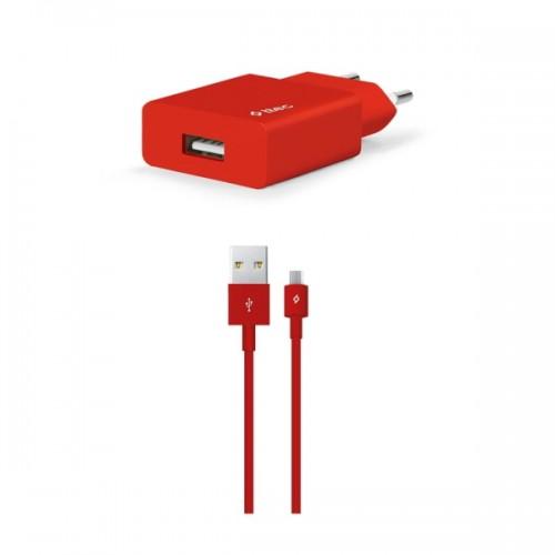 TTEC SmartCharger™ Ταχυφορτιστής Ταξιδιού με Καλώδιο Micro-USB Κόκκινο