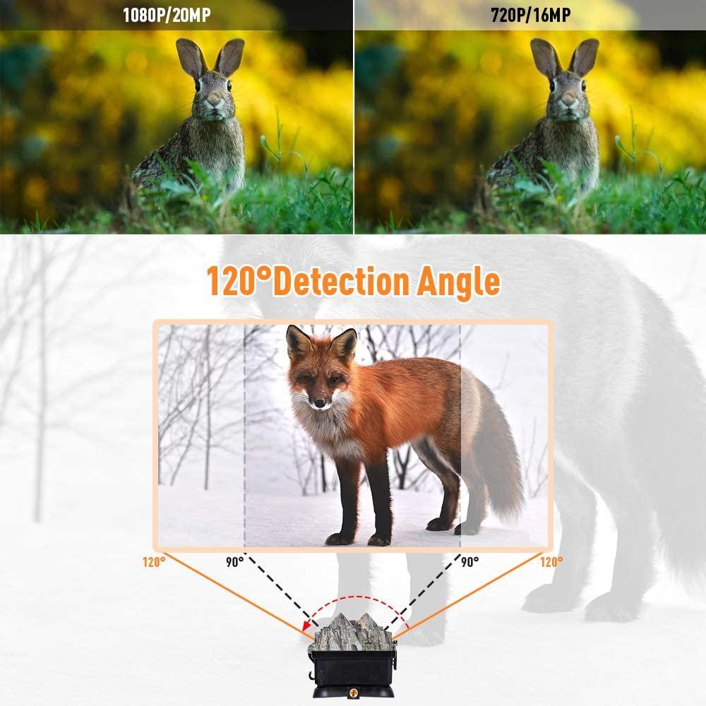 Κάμερα κυνηγιού με εύρος γωνίας λήψης 120°