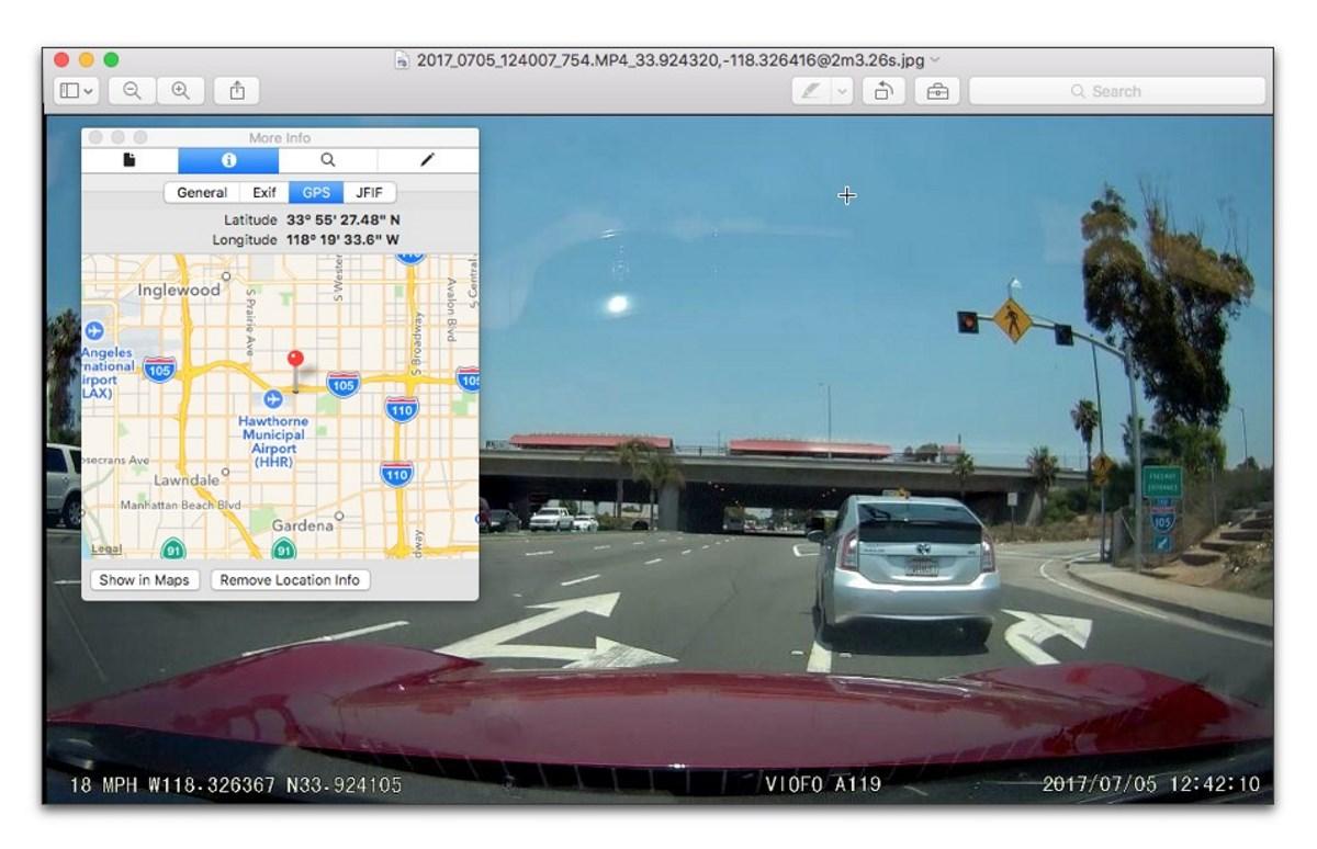 Κάμερα Αυτοκινήτου με GPS