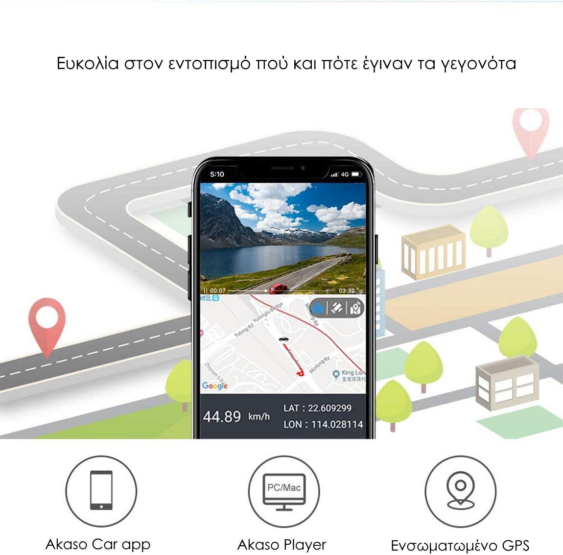 AKASO Trace 1 Pro Dash Camera εφαρμογή