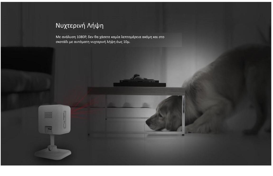Cleverdog mini wifi smart camera νυχτερινή λήψη