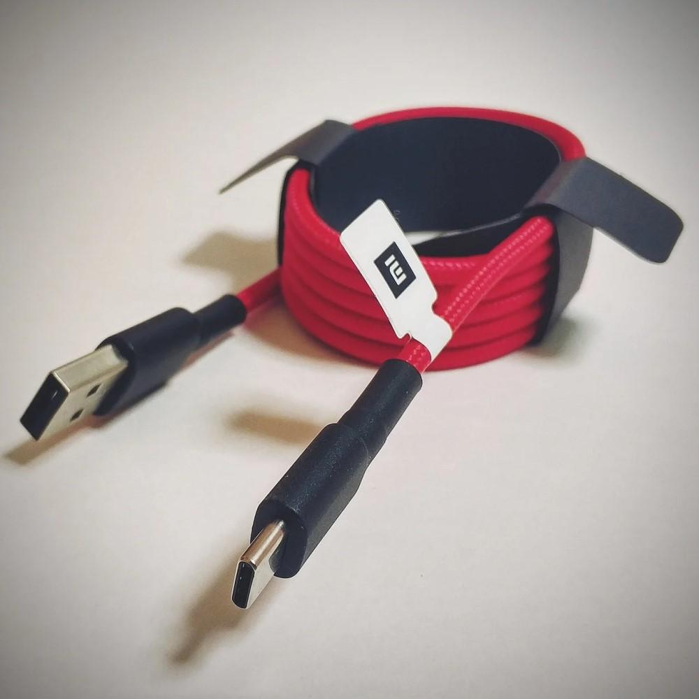 Xiaomi Braided USB 2.0 Cable USB-C male - USB-A male Κόκκινο 1m (SJV4110GL)