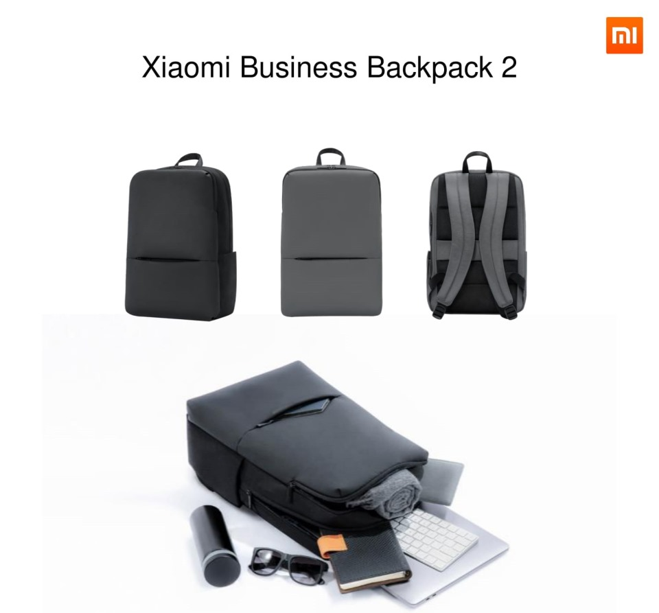 "Xiaomi Mi Business Backpack 2 15.6"" Black για Notebook 14""-15.6"" + Tablet"