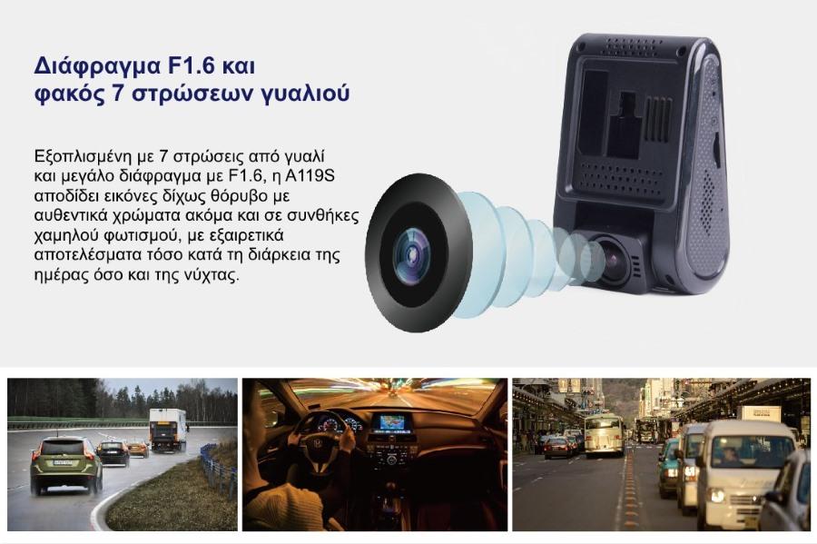 Κάμερα Αυτοκινήτου με μεγάλο διάφραγμα