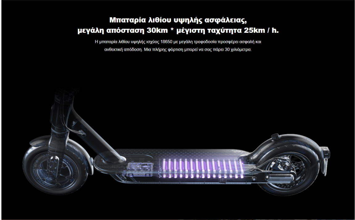 Xiaomi Mi Electric Scooter 1S μπαταρία
